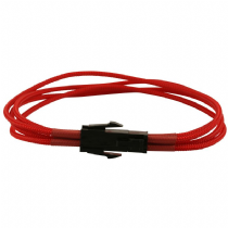 4 Pin ATX Red Braided Male to Female Power Extension Cable